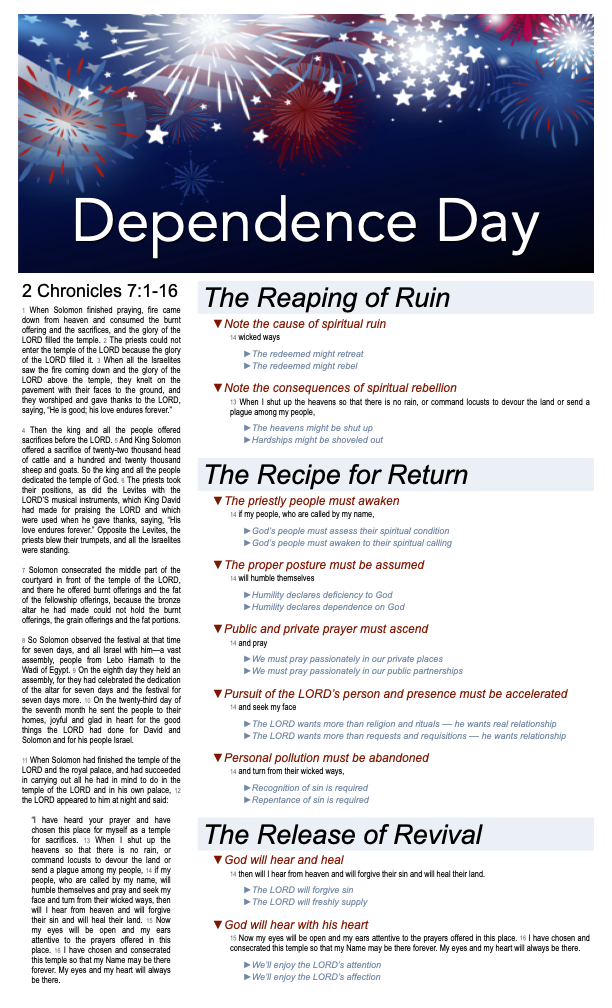2021 Dependence Day w